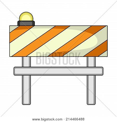 Barrier single icon in cartoon style.Barrier vector symbol stock illustration .