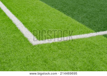 part of a soccer field with boundries