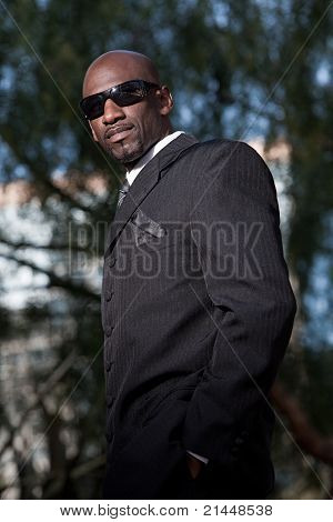 Handsome Forties Black Man