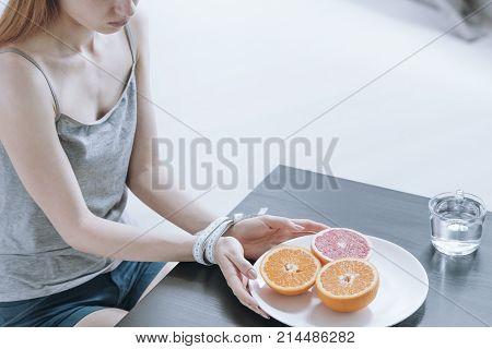 Girl Keeping Restricted Diet
