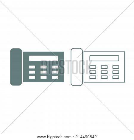 Fax Icon. Grey Set .