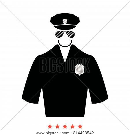 Police Icon .  Flat Style