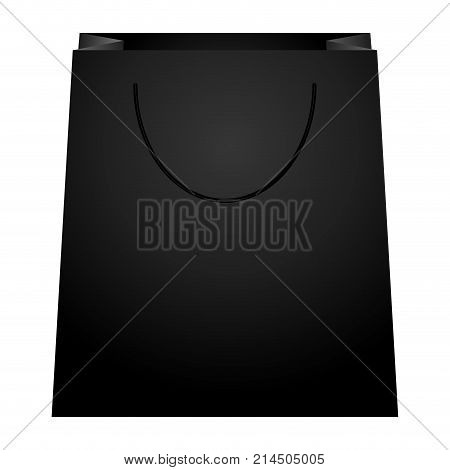 Isolated shopping bag on a whte background, vector illustration