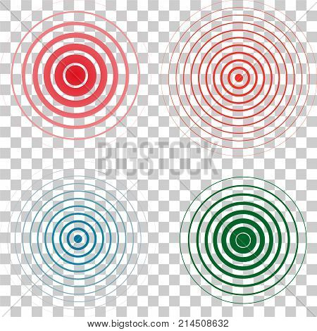 Red rings. Pain circle. Symbol of pain. For your medical design. Vector template illustration