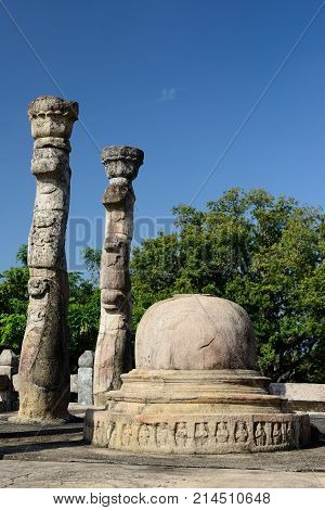 Sri Lanka Polonnaruwa ruin was the second capital of Sri Lanka after the destruction of Polonnaruwa. Nissankalata Mandapa temple