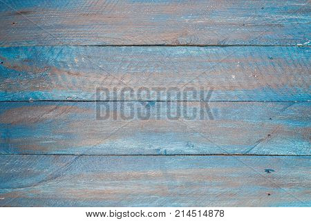 Blue Shabby Chic Wood Retro Vintage Background Texture