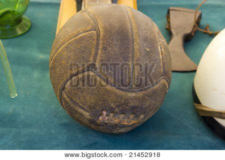 Vintage leather soccer ball
