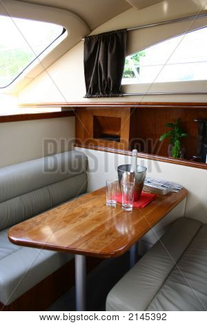 Interior Of The Yacht