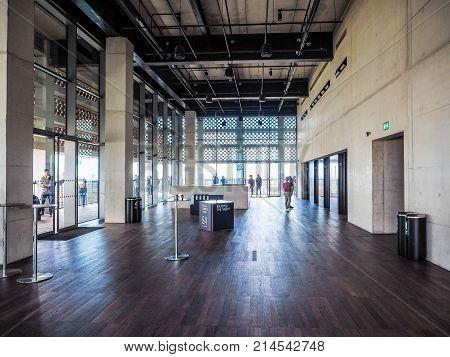 Tate Modern Tavatnik Building In London, Hdr