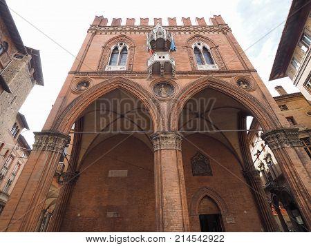 Palazzo Della Mercanzia Chamber Of Commerce In Bologna