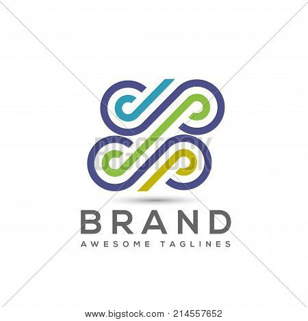 abstract business color vector logo, letter dp business logo, business logo design logo eps10 company logo symbol, connections business logo
