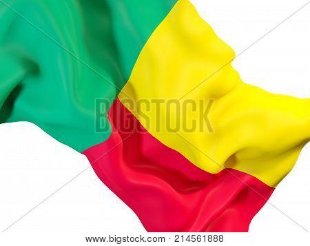Waving Flag Of Benin