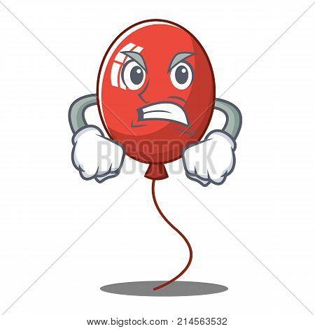 Angry balloon character cartoon style vector illustration
