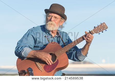 Musician With Vintage Clothes