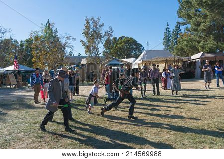 Participants Playing During Tumbleweed Festival