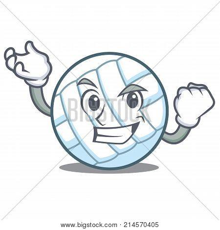 Successful volley ball character cartoon vector illustration
