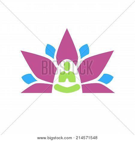 Lotus Yoga Aura Plain Graphic
