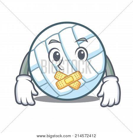 Silent volley ball character cartoon vector illustration