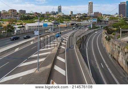 M1, Eastern Distributor Highway View From Above