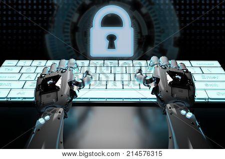 Robot Hand With Keypad Lock