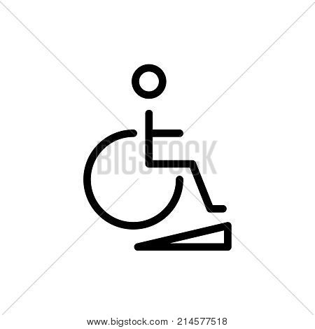 Disabled line icon. High quality black outline logo for web site design and mobile apps. Vector illustration on a white background.