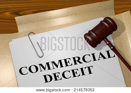 Commercial Deceit Concept
