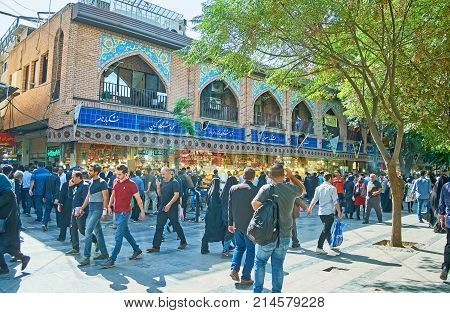 The Crowded Streets Of Tehran