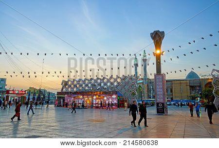 Black Flags In Imam Hossein Square In Tehran