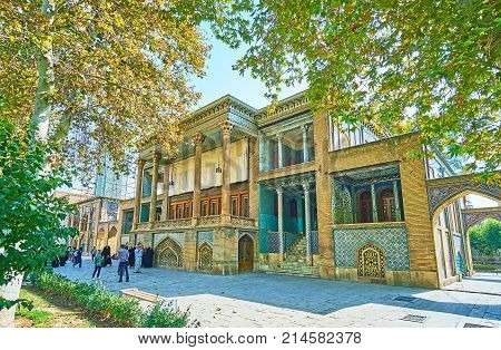 Windcatchers Building From Golestan Garden, Tehran