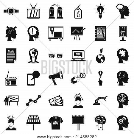 Globe icons set. Simple style of 36 globe vector icons for web isolated on white background