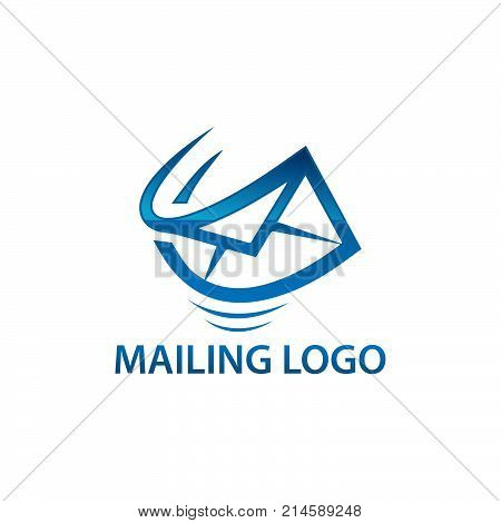 Express air mail logo. Simple illustration of express air mail vector logo for web. Gradien color logo