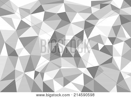 White abstract texture background with triangle shapes colored