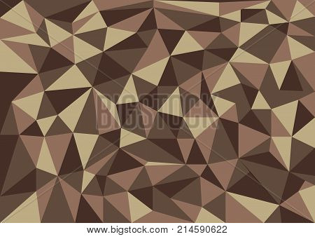Brown abstract texture background with triangle shapes colored