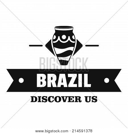 Brazil discover logo. Simple illustration of brazil discover vector logo for web