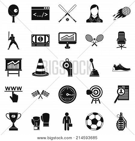 Function icons set. Simple set of 25 function vector icons for web isolated on white background