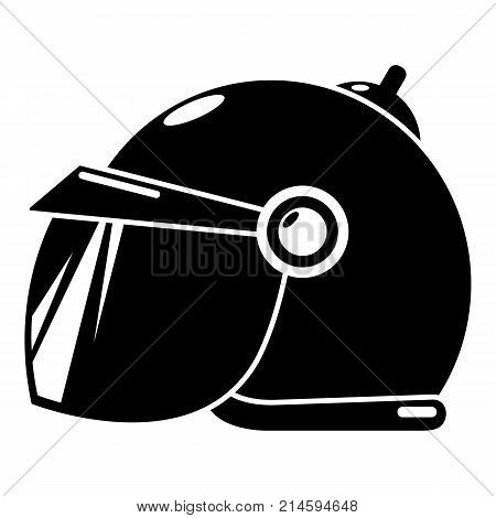 Motorcycle helmet scooter icon. Simple illustration of motorcycle helmet scooter vector icon for web