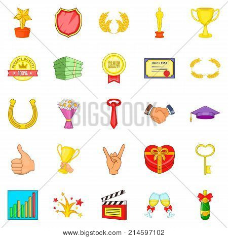 Dear participant icons set. Cartoon set of 25 dear participant vector icons for web isolated on white background