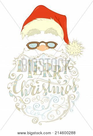 Vector Merry Christmas Lettering.