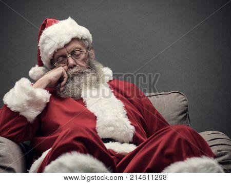 Santa Claus Taking A Nap
