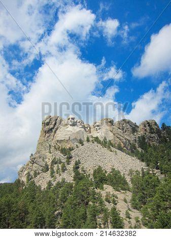 Mount Rushmore National Monument in South Dakota, United States