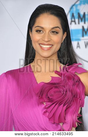 Lilly Singh at the 2017 American Music Awards held at the Microsoft Theater in Los Angeles, USA on November 19, 2017.