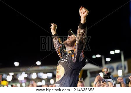 November 19, 2017 - Homestead, Florida, USA: Martin Truex Jr (78) wins the 2017 Monster Energy NASCAR Cup Championship during the Ford EcoBoost 400 at Homestead-Miami Speedway in Homestead, Florida.