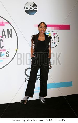LOS ANGELES - NOV 19:  Yara Shahidi_ at the American Music Awards 2017 at Microsoft Theater on November 19, 2017 in Los Angeles, CA