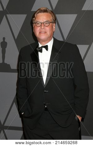 LOS ANGELES - NOV 11:  Aaron Sorkin at the AMPAS 9th Annual Governors Awards at Dolby Ballroom on November 11, 2017 in Los Angeles, CA