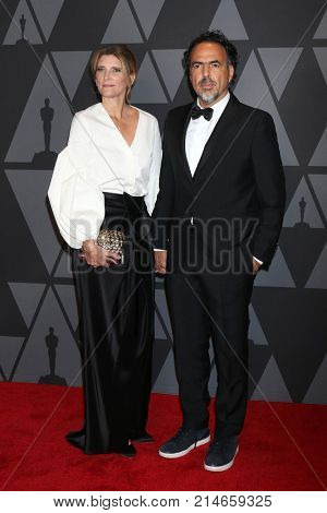 LOS ANGELES - NOV 11:  Maria Eladia Hagerman, Alejandro Gonzalez Inarritu at the AMPAS 9th Annual Governors Awards at Dolby Ballroom on November 11, 2017 in Los Angeles, CA