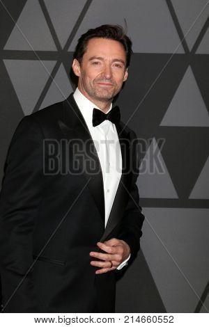 LOS ANGELES - NOV 11:  Hugh Jackman at the AMPAS 9th Annual Governors Awards at Dolby Ballroom on November 11, 2017 in Los Angeles, CA