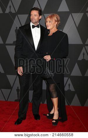 LOS ANGELES - NOV 11:  Hugh Jackman, Deborra-lee Furness at the AMPAS 9th Annual Governors Awards at Dolby Ballroom on November 11, 2017 in Los Angeles, CA