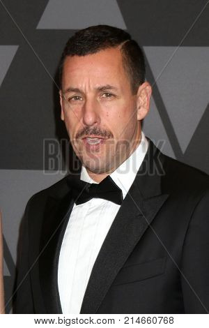 LOS ANGELES - NOV 11:  Adam Sandler at the AMPAS 9th Annual Governors Awards at Dolby Ballroom on November 11, 2017 in Los Angeles, CA