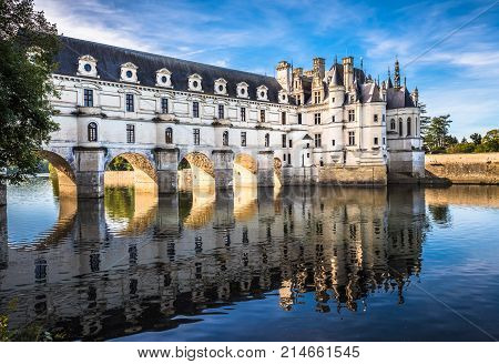 Chateau De Chenonceau On The Cher River, Loire Valley, France