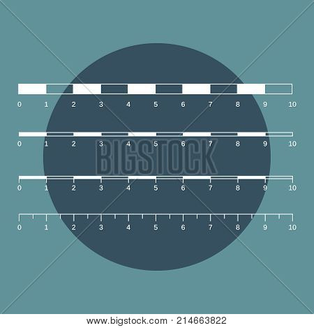 Map Scales Graphics For Measuring Distances. Scale Measure Map V